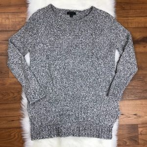 Ann Taylor Marled Tunic Sweater Long Sleeve